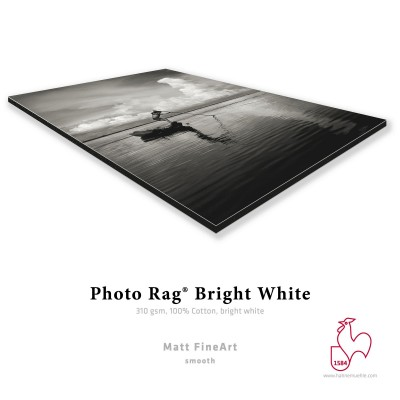 Hahnemühle Photo Rag Bright White contre-collé sur Dibond