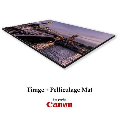 Tirages pelliculés Mat + Contre collage Dibond