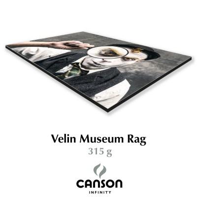 Velin Museum Rag 315g + Dibond