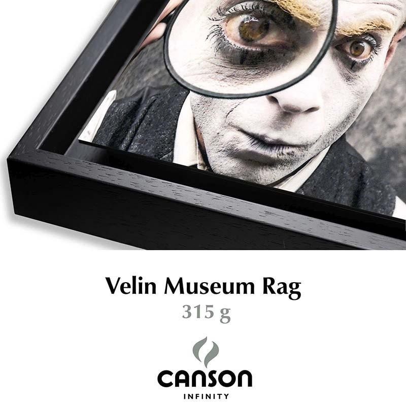 Détail Velin Museum Rag 315g + Caisse américaine Noire