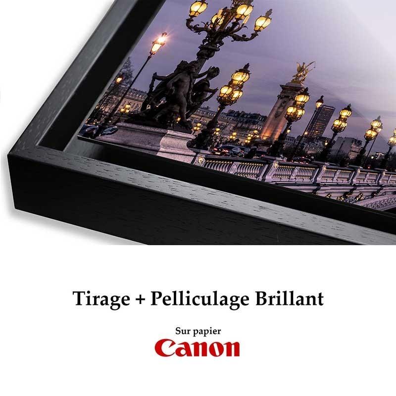 Tirages pelliculés Brillant + Caisse
