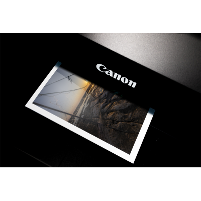 Tirage Canon Brillant 300g + Contre collage Dibond